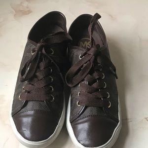 Michael Kors MK Brown Sneakers Youth 6.5